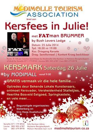 Kersfees in Julie in Modimolle – 25 / 26 Julie 2014