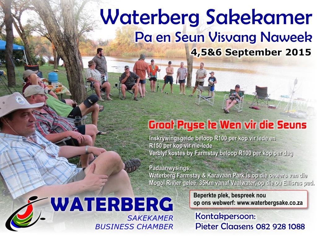 Waterberg Sakekamer Pa en Seun Visvang Naweek 4 – 6 Sep 2015