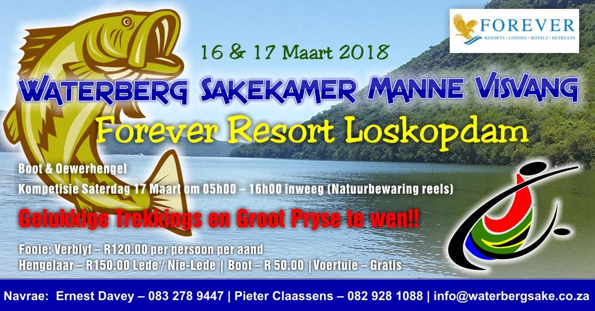 Waterberg Sakekamer Manne Visvang 16 & 17 Maart 2018 Loskopdam